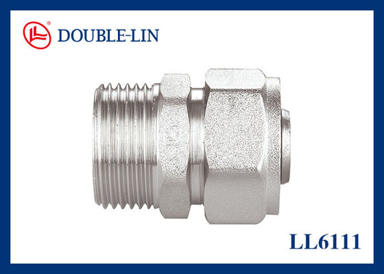 Male Straight Union Brass Compression Fittings