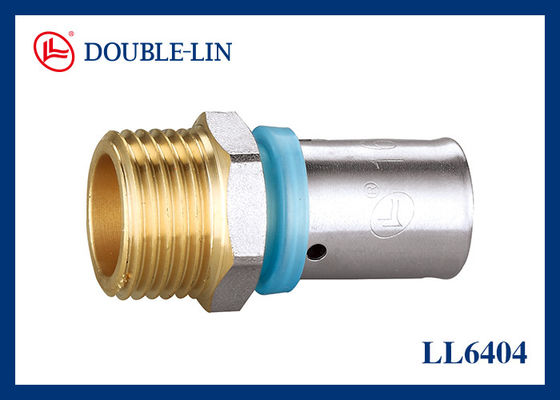 Male Straight Union 1 Inch Brass Press Fittings