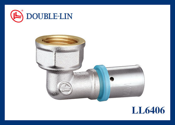 "F1""×32-3.0 Female Elbow Brass Press Fittings"
