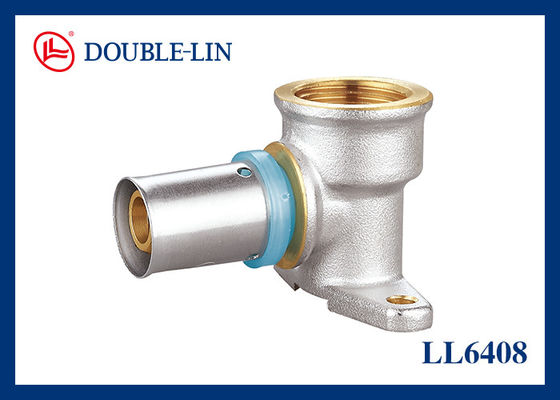 ISO228 Thread HPB 57-3 Brass Wall Plate Elbow